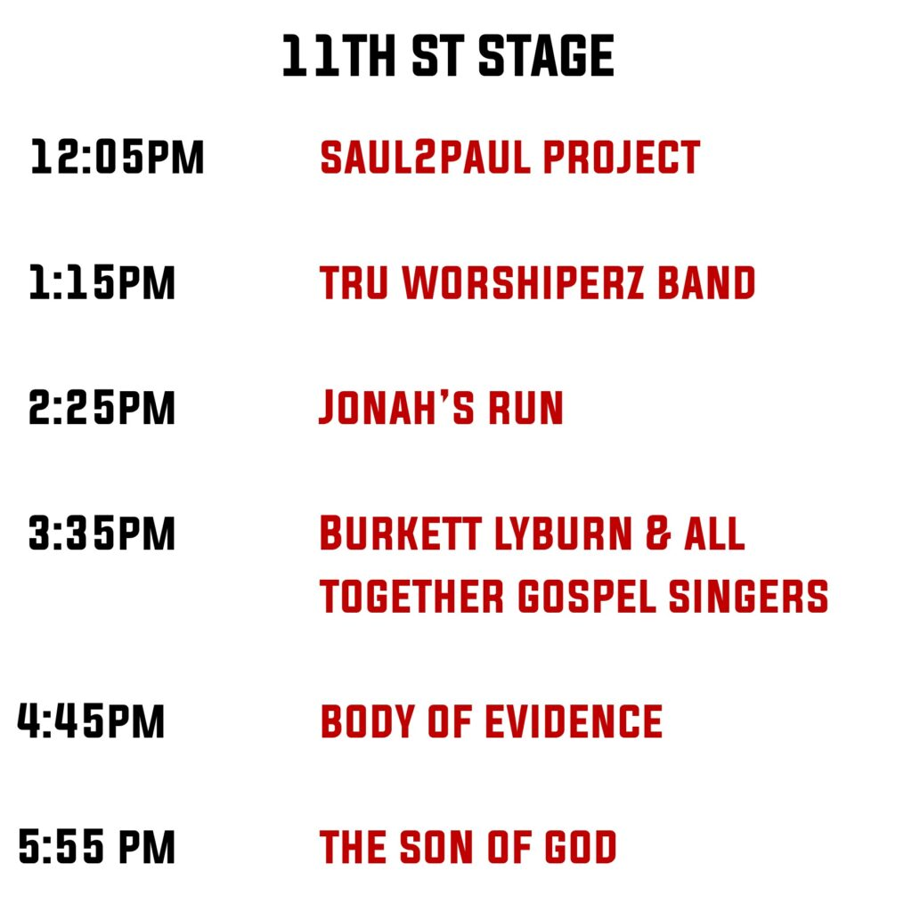 11th Stage Line up