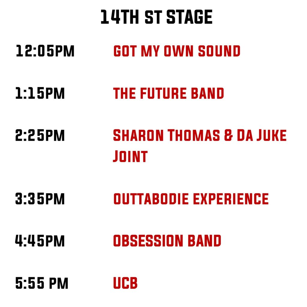 14th Stage Line Up
